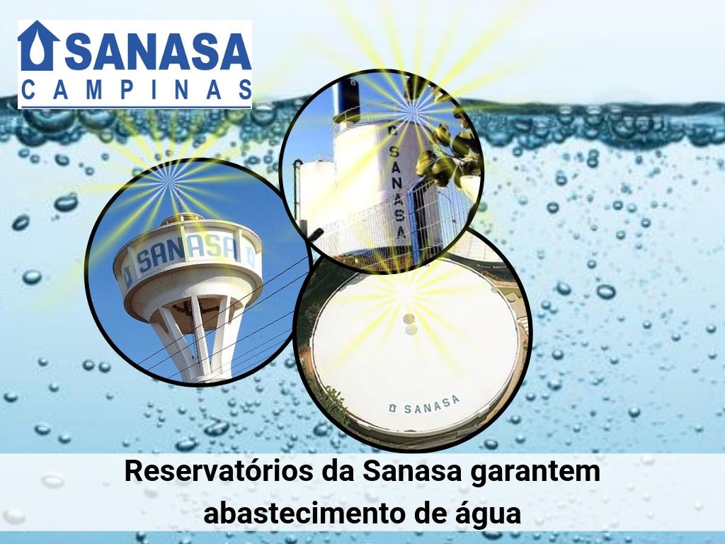 Sanasa garantem serviço de água em Campinas