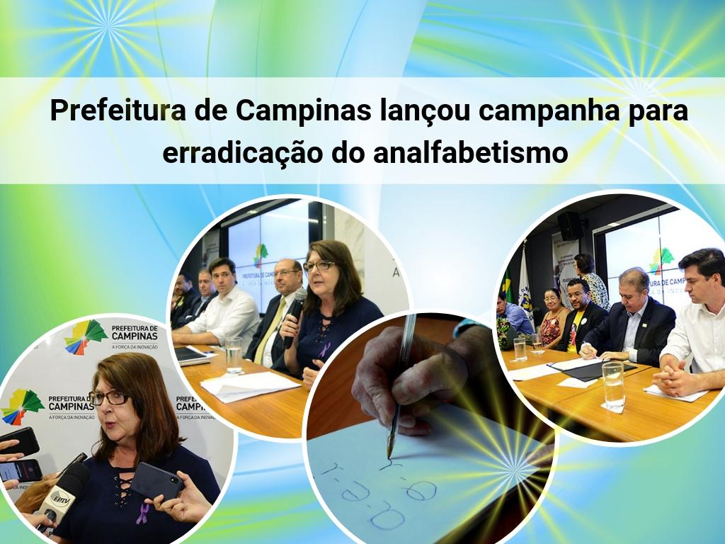 Prefeitura de Campinas lançou campanha para erradicação do analfabetismo