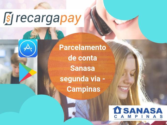 Parcelamento de conta Sanasa segunda via - Campinas