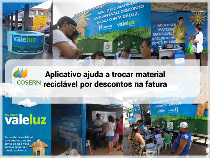 Aplicativo da Cosern ajuda a trocar material reciclável por descontos na fatura