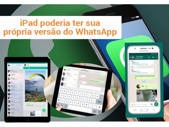 Imagens de uma versão Beta do WhatsApp para iPad emergem