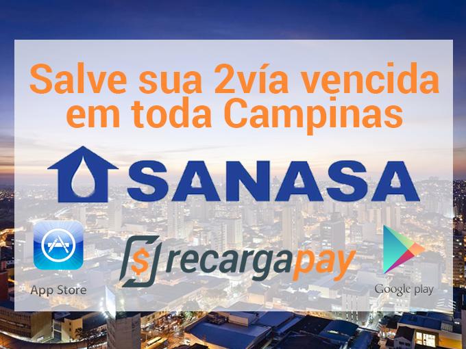 Pague suas dívidas com Sanasa e RecargaPay em Campinas
