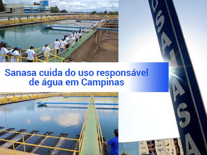 Sanasa cuida do uso responsável da água em Campinas