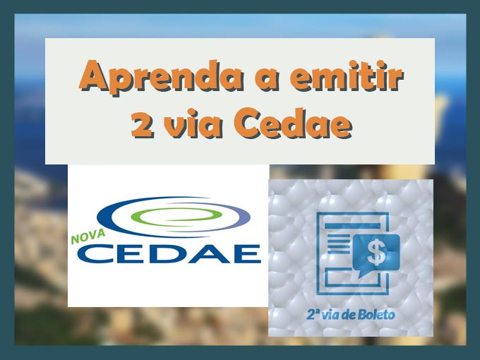 Aprenda a emitir 2 via Cedae