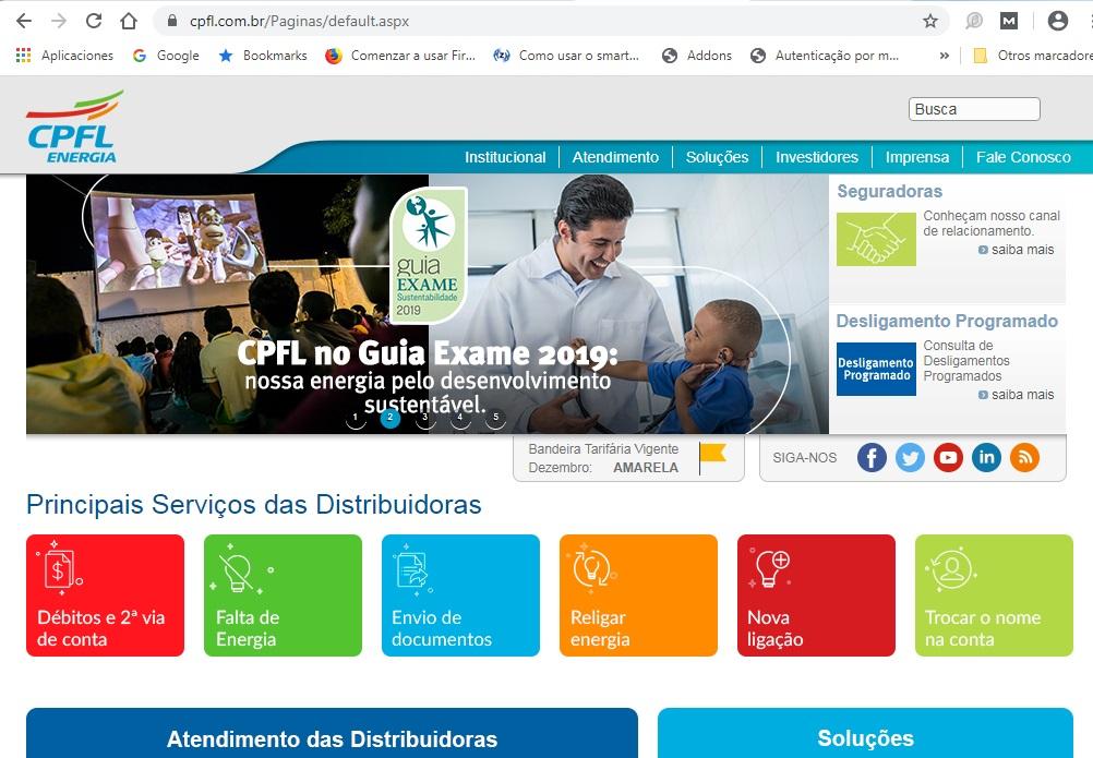 Acesse a página do Grupo CPFL Energia