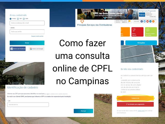 Como fazer uma consulta online de CPFL no Campinas