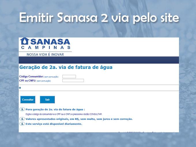 Emitir Sanasa 2 via pelo site