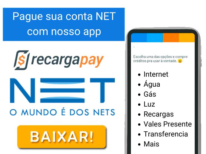 Pague sua conta NET com nosso app
