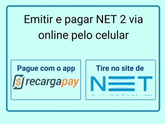 Emitir e pagar NET 2 via online pelo celular